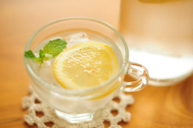 水分補給 レモン水